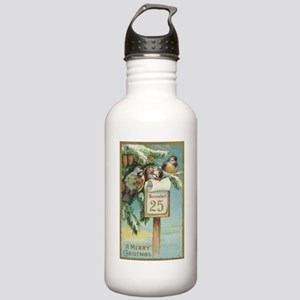 Vintage Christmas Spar Stainless Water Bottle 1.0L