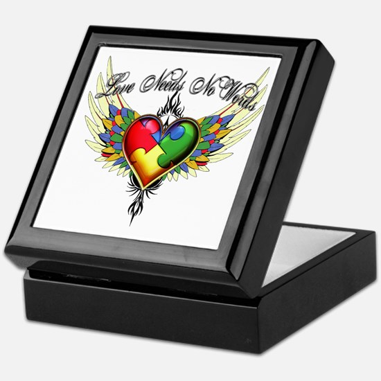 autism - Love Needs No Words Keepsake Box