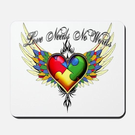 autism - Love Needs No Words Mousepad