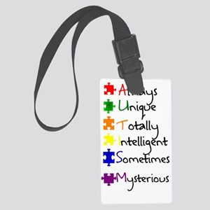 Autism Means Large Luggage Tag