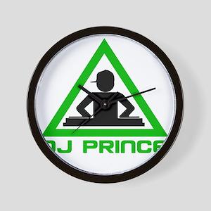 dj-prince-hat-dark Wall Clock