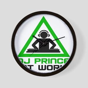 dj-prince-headphone Wall Clock