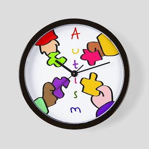 Autism Pieces Wall Clock