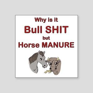 """horse bull Square Sticker 3"""" x 3"""""""