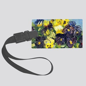 Coin VG Pansies Large Luggage Tag