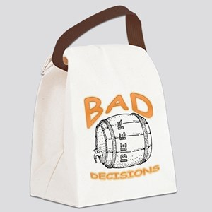 bad decisions Canvas Lunch Bag