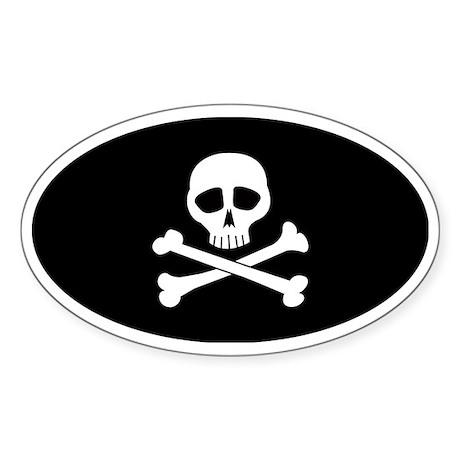 skullbones Sticker (Oval)