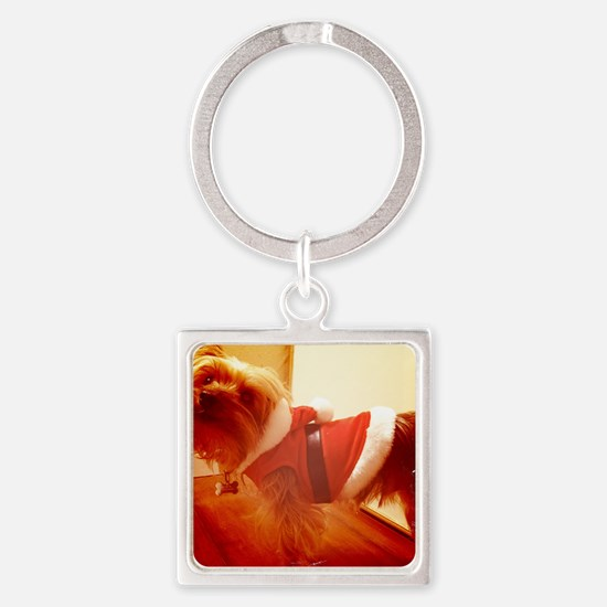 santa paws Square Keychain