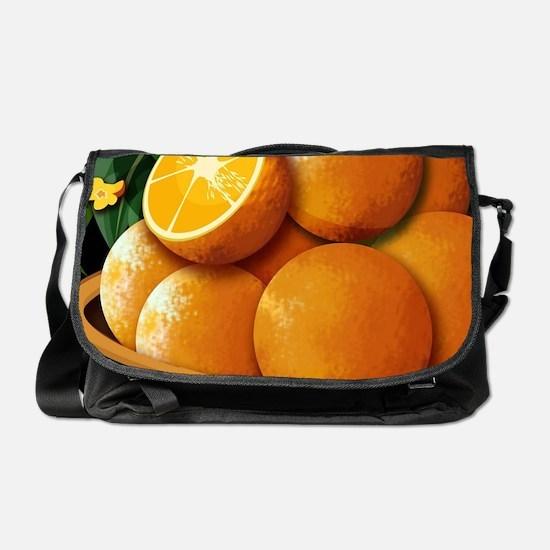 Basket Of Oranges  Messenger Bag