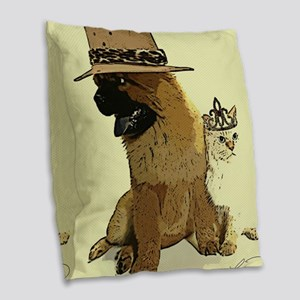 BEAST and HIS BEAUTY Burlap Throw Pillow