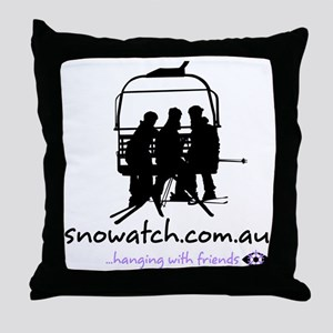 hangning_with_friends_v2_white_female Throw Pillow