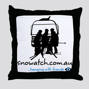 hanging_with_friends_v2_white Throw Pillow
