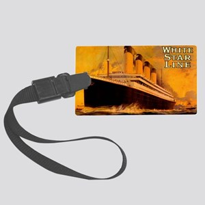 TGgoldLaptopskin Large Luggage Tag