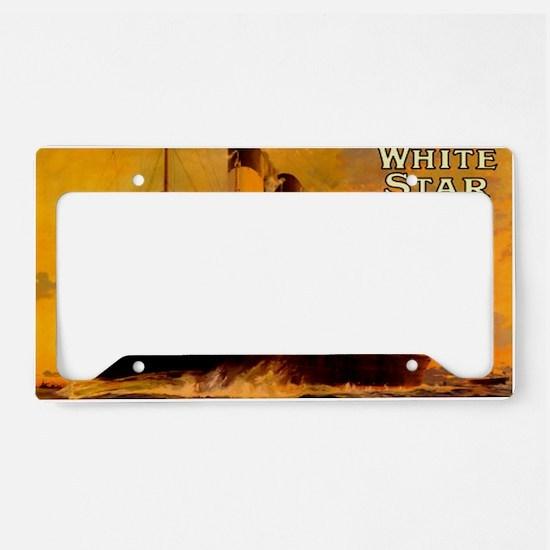 TGgoldLaptopskin License Plate Holder