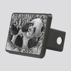Giant Panda Cub Puzzle Rectangular Hitch Cover