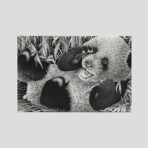 Giant Panda Cub Puzzle Rectangle Magnet