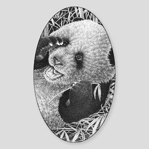 Giant Panda Cub (Kindle Sleeve) Sticker (Oval)