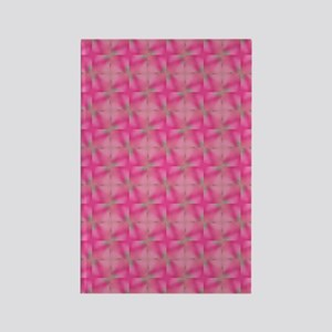 Pink Pattern Rectangle Magnet