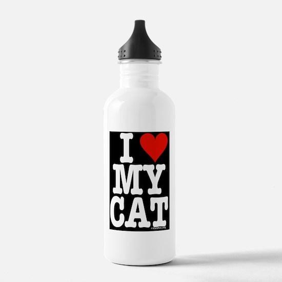 HeartCatipad2cover Water Bottle