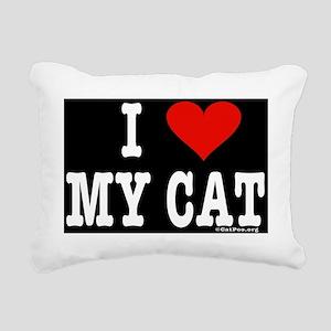 HeartCblack14.7x9.67skin Rectangular Canvas Pillow