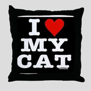 HeartCatMensWallet-b Throw Pillow