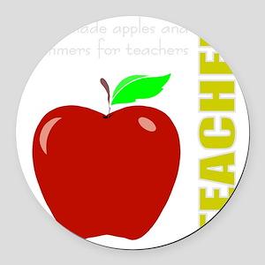 God, Teachers, apples Round Car Magnet