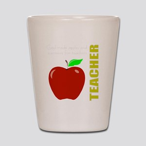 God, Teachers, apples Shot Glass