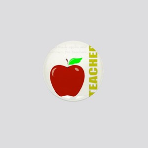 God, Teachers, apples Mini Button