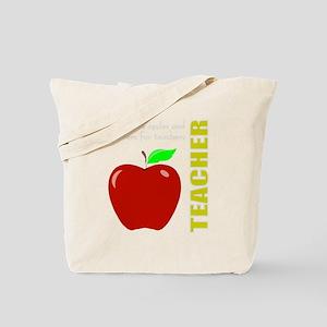 God, Teachers, apples Tote Bag