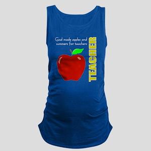 God, Teachers, apples Maternity Tank Top