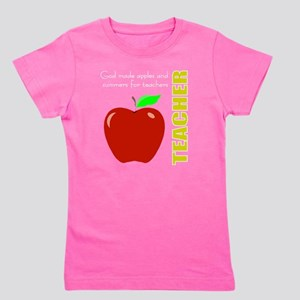 God, Teachers, apples Girl's Tee
