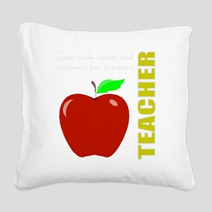 God, Teachers, apples Square Canvas Pillow