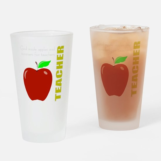 God, Teachers, apples Drinking Glass