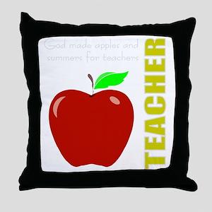 God, Teachers, apples Throw Pillow