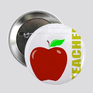"God, Teachers, apples 2.25"" Button"