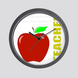 God, Teachers, apples Wall Clock