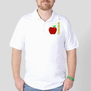 God, Teachers, apples Golf Shirt