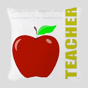 God, Teachers, apples Woven Throw Pillow