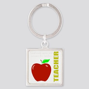 God, Teachers, apples Square Keychain