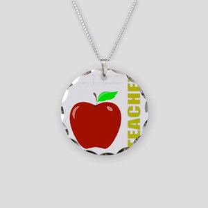 God, Teachers, apples Necklace Circle Charm
