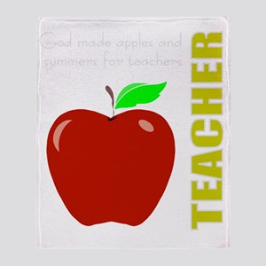 God, Teachers, apples Throw Blanket