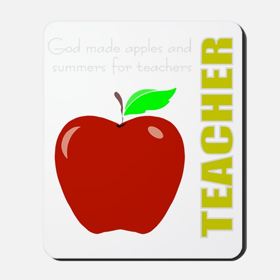God, Teachers, apples Mousepad