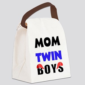 cute mom of twins Canvas Lunch Bag