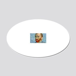 Coin VG PortraitBlue 20x12 Oval Wall Decal