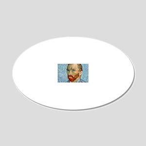 Bag VG PortraitBlue 20x12 Oval Wall Decal