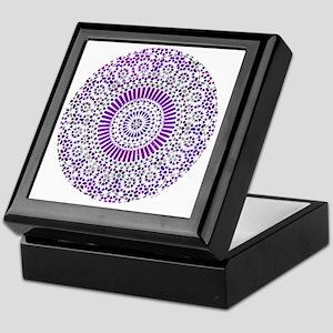 cp mosaic circle purple Keepsake Box