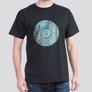 cp mosaic circle lt blue Dark T-Shirt