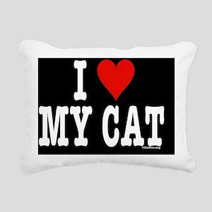 HeartCatToiletryBag Rectangular Canvas Pillow