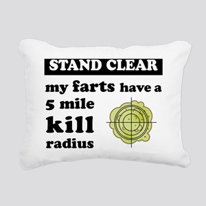 myfartshavea5milekillrad Rectangular Canvas Pillow