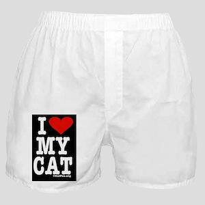 HeartCatKeyRectBlack-b Boxer Shorts